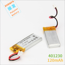 3.7V 041230 401230 120mah lithium polymer battery for Bluetooth headset BT2010/BT135 Jabra Bluetooth headset battery