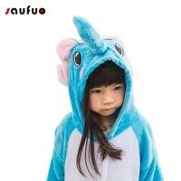New Kid And Adult Animal Elephant Blue Pajamas Onesies Costume Home Sleepwear Cartoon Animal Pyjamas