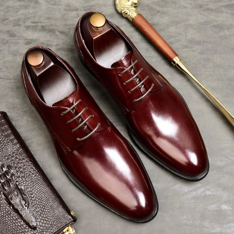 «Sapato formal de couro genuíno para homens,