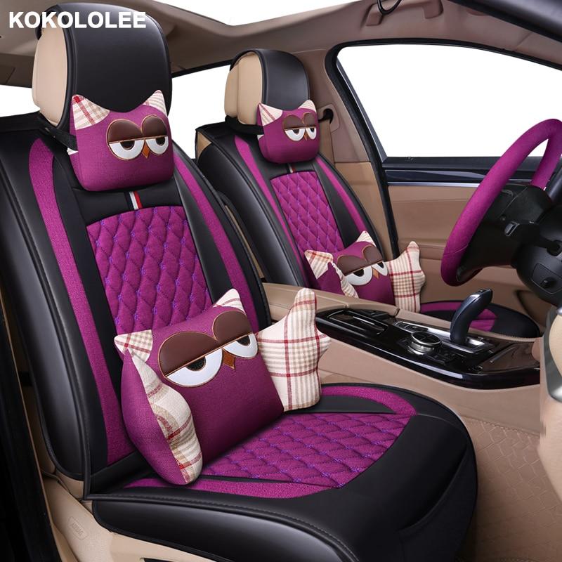 Aliexpress Com Buy Kokololee Cartoon Flax Car Seat Cover