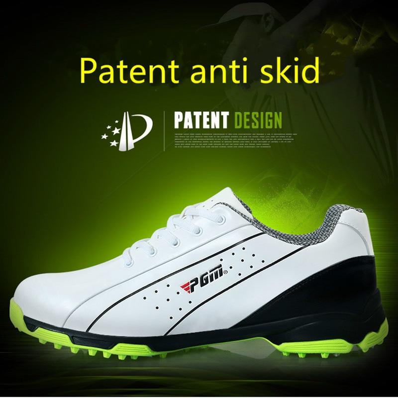 Здесь продается  2018 PGM Golf Shoes Breathable Athletic Sneaker Plus Size 39-46 Mesh Sport Shoes PU Waterproof Professional Golf Shoes For Men  Спорт и развлечения