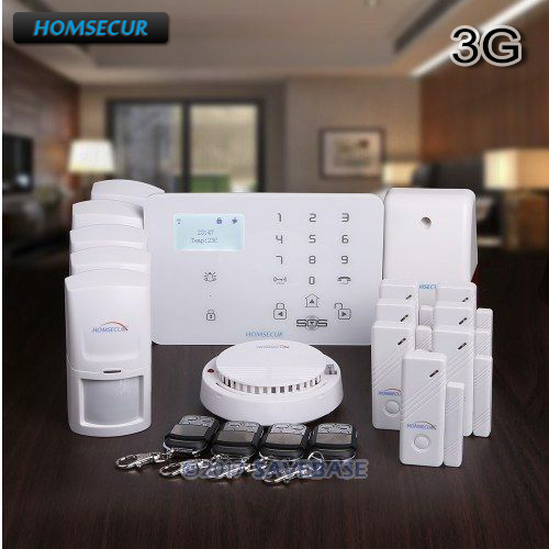 цена на HOMSECUR Wireless&wired WCDMA/GSM LCD Home House Alarm System With Touch Panel