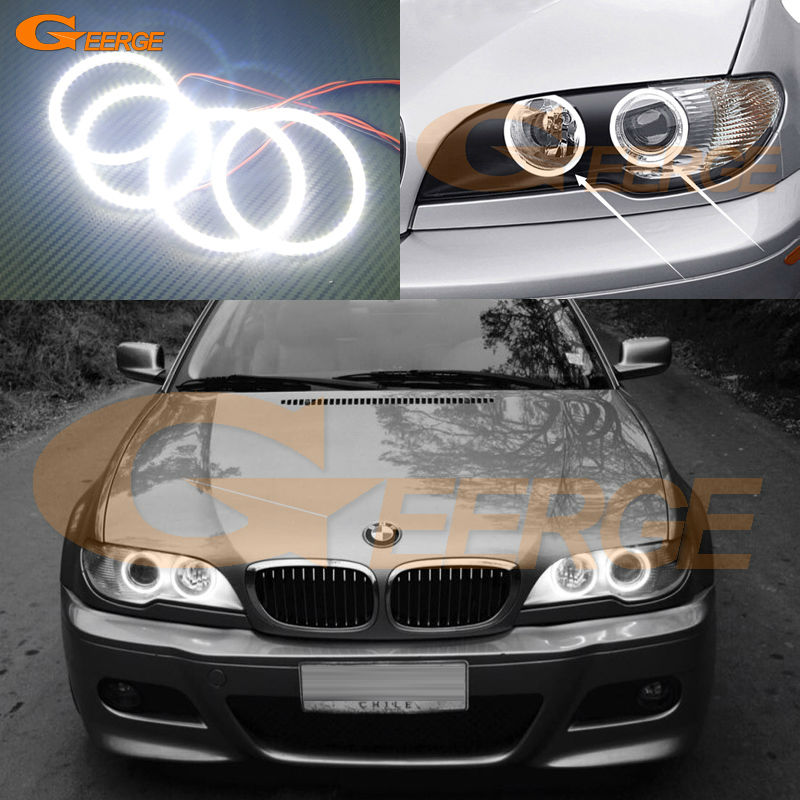 For BMW E46 325ci 330ci 2004 2005 2006 projector headlight Excellent Ultra bright illumination smd led Angel Eyes Halo Ring kit капот bmw 46 кузов купить разбор южный округ
