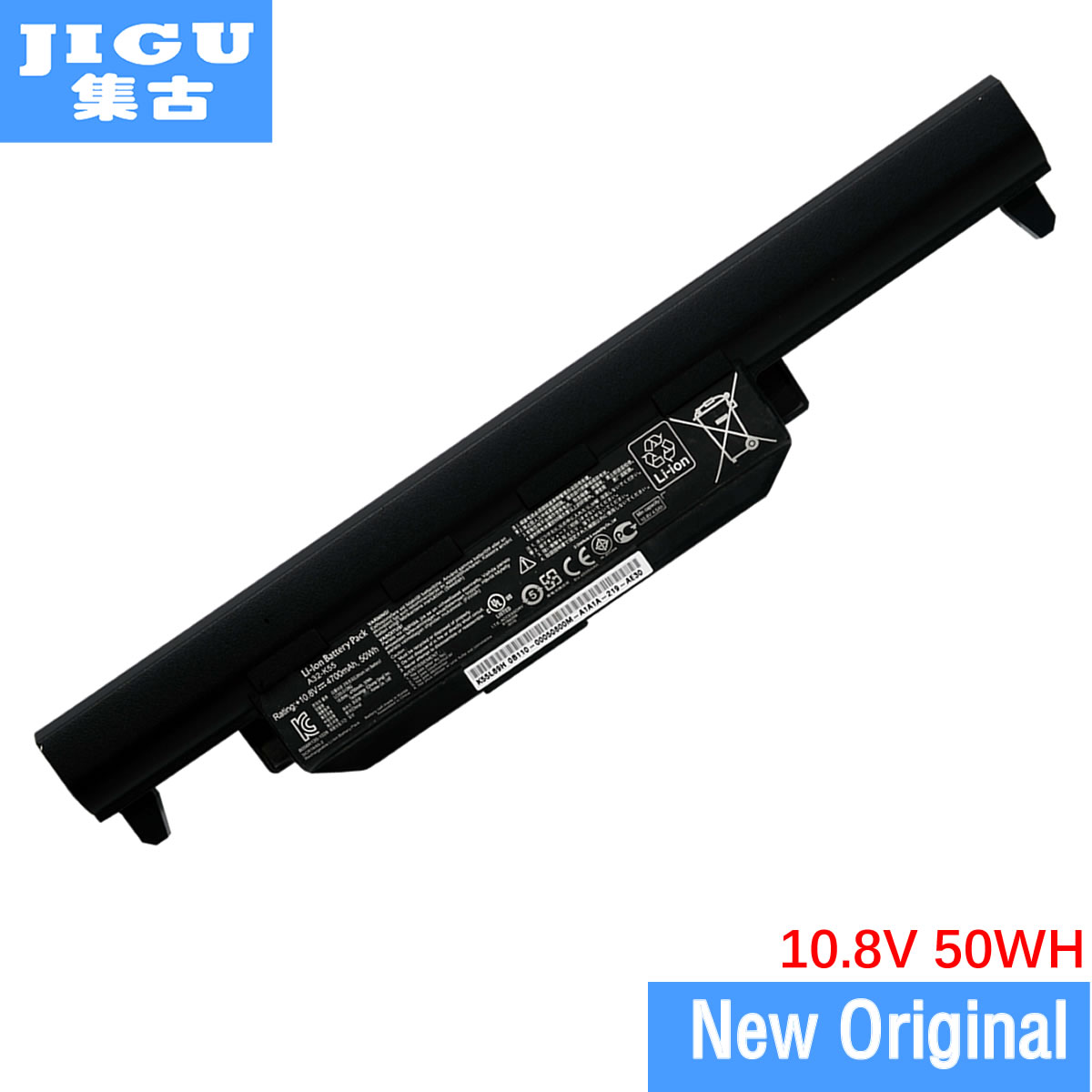 JIGU Original laptop Battery For Asus U57 X55 X55A X55C X55U X55V X55VD X75 X75A X75V X75VD 10.8V 4700mAH