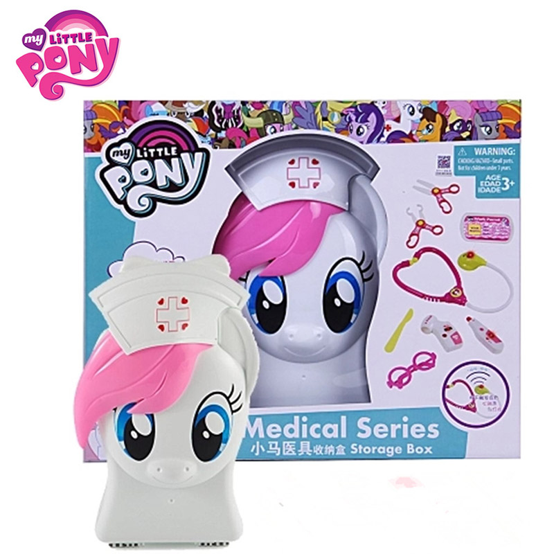 Hasbro My Little Pony Doctor Pretend Toy Medical Series Movie&Tv Pretend Play Toy Collection Model Present For Children hasbro transformers genuine movie series mb 13 broken bone boy toy