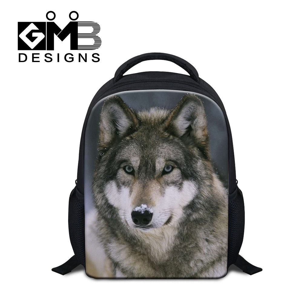 Dispalang new school bags for boys fashion children backpacks cool wolf print back pack kids stylish shoulder bags cheap mochila