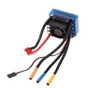 Image 2 - 3670 2650KV 2150KV 1900KV 120Aと 4 極センサレスブラシレスモーターesc & ledプログラミングカードコンボセットのため 1/10 rc車のトラック