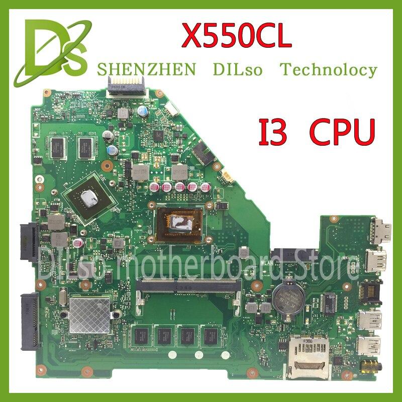 KEFU X550CL carte mère pour ASUS X552C R510C R510CC X550CC Y582C Mère d'ordinateur portable I3 carte mère Testé la carte mère d'origine