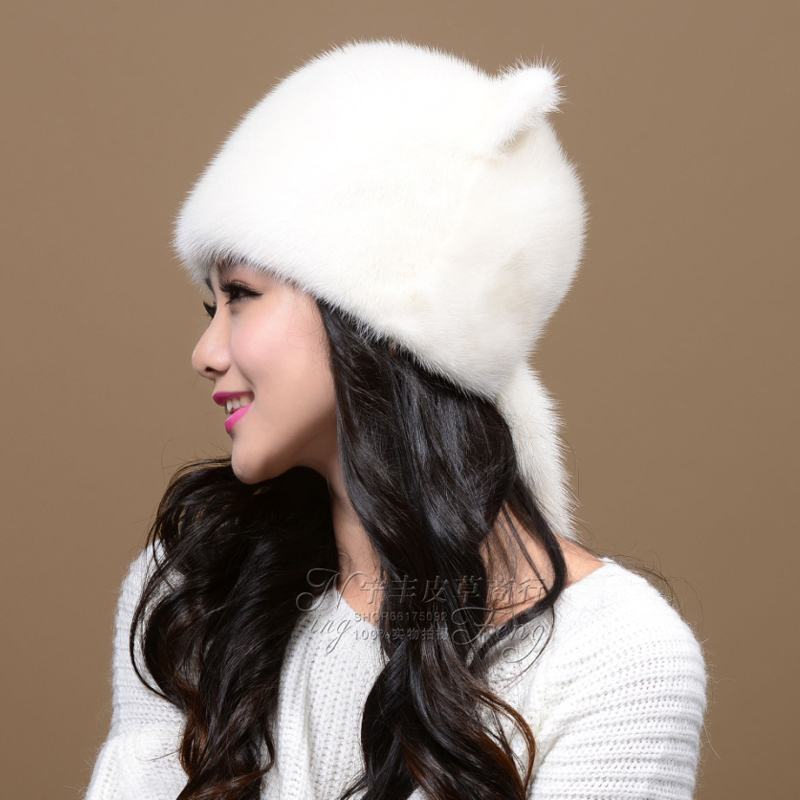 Female mink fur hat hat cute Orecchiette whole mink fur ear cap winter hat mink hat welding machine welder foot pedal control current for tig mig plasma cutter