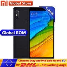 Küresel Rom Xiaomi Redmi Not 5 6 GB 64 GB Cep Telefonu Snapdragon S636 Octa Çekirdek 4000 mAh 5.99 2160*1080 Tam Ekran 12.0 + 5....