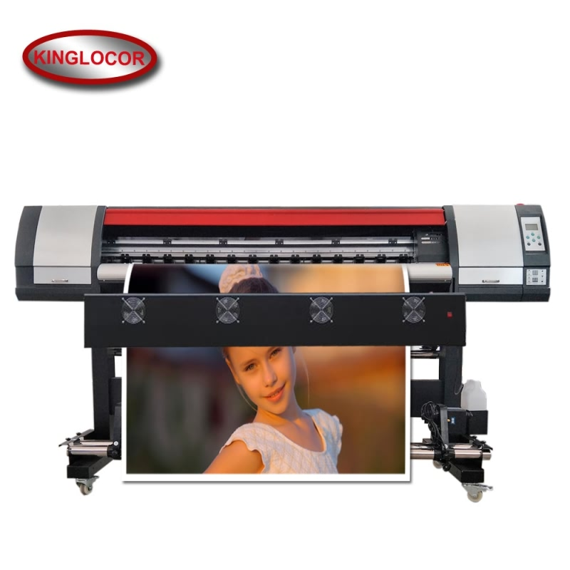 18.5Sqm/h High Speed Large Format Printer Outdoor Eco Solvent Image Printer Machine With CMYK 4 Colors