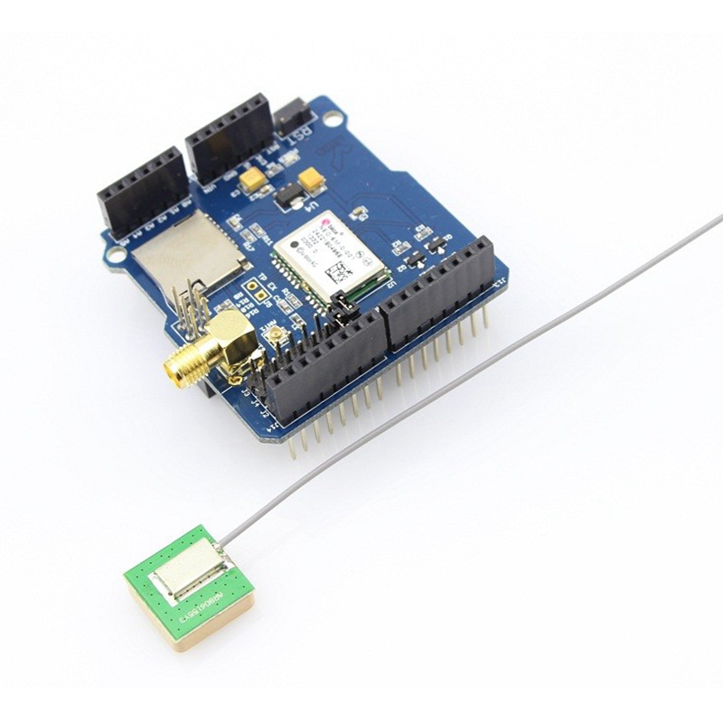 Elecrow GPS Shield for Arduino UNO R3 MEGA NEO-6M Receiver Module with Antenna Micro SD Card Interface Electronic DIY Kit