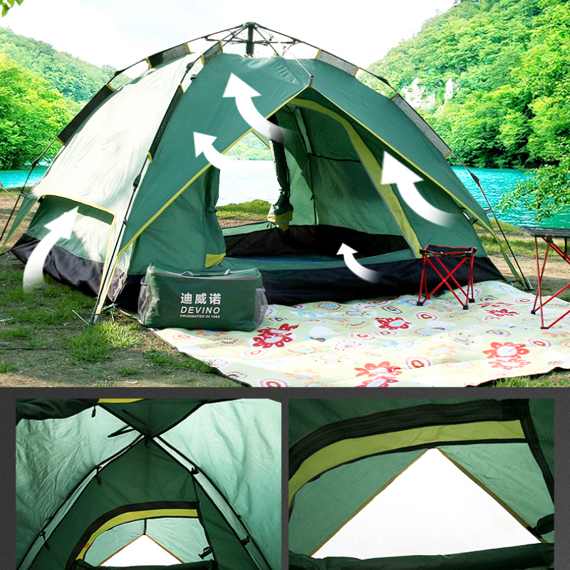 DEVINO 3500G spring outdoor C&ing Tent 4 Season 3 4 Person tents Professional c&ing tent automatic winter tents -in Tents from Sports u0026 Entertainment on ... & DEVINO 3500G spring outdoor Camping Tent 4 Season 3 4 Person tents ...