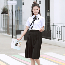 Female school uniforms set 2018 new style male college wind JK high students shirt performance suit two-piece