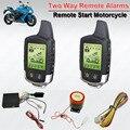 Sistema de Partida Do Motor de Controle Remoto à prova d' água de 2 Vias de Alarme Da Motocicleta Anti-roubo Sistema de Alarme de Segurança LCD Transmissor