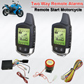 Waterproof 2 Way Motorcycle Alarm System Remote Control Engine Start Anti-theft Security Alarm System LCD Transmitter