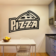 Creative Pizza Wall Stickers Pvc Decals For Kitchen Room Vinyl Mural Commercial decoration chamber adesivi pareti