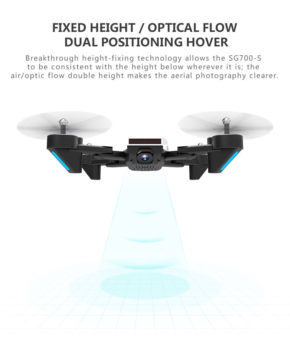 RC Helicopter With HD Camera Wide Angle Selfie Drone Palm Control Quadcopter With WiFi Camera SG700 Upgraded Version SG700s Dron 13