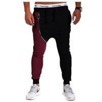 Mens Joggers 2017 Brand Male Trousers Men Pants Casual Pants Sweatpants Jogger Spell Color Pantalones Hombre Harem Pants XXL