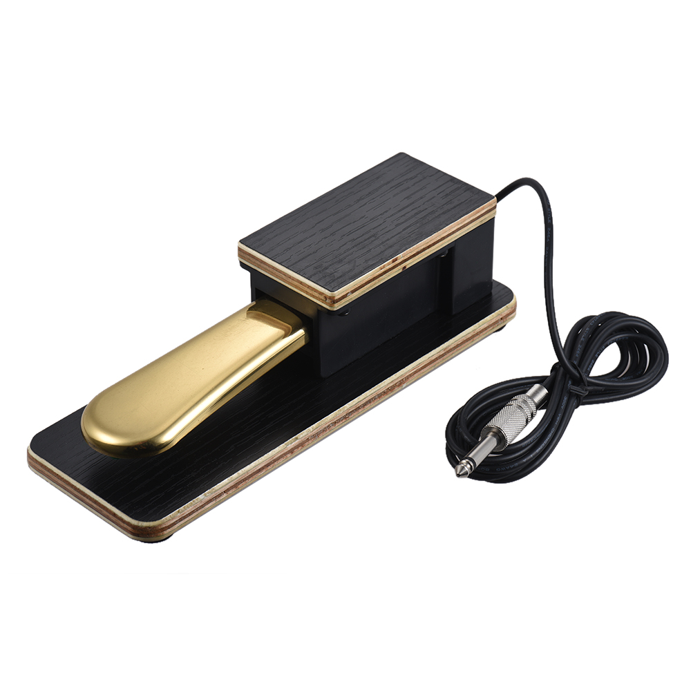universal piano sustain pedal keyboard foot damper pedal plug for roland electronic. Black Bedroom Furniture Sets. Home Design Ideas