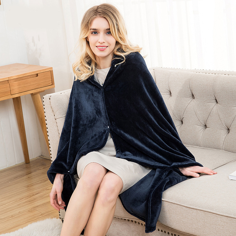Winter Thick Comfy Hooded Plaid Blanket Sweatshirt Unicorn Warm Coats TV Hoodie Blankets Fleece Blanket Adult for Sofa Beds Kids 19