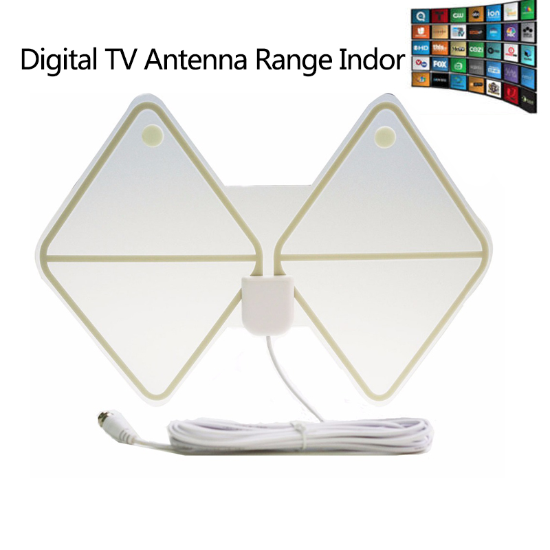 Digital Amplified Indoor HDTV Antenna 75 Miles Range TV