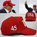 Hot moda lazer ao ar livre cap esportes snapback eua trump 45 presidente 5 cores boné de beisebol men & women moda cap chapéu
