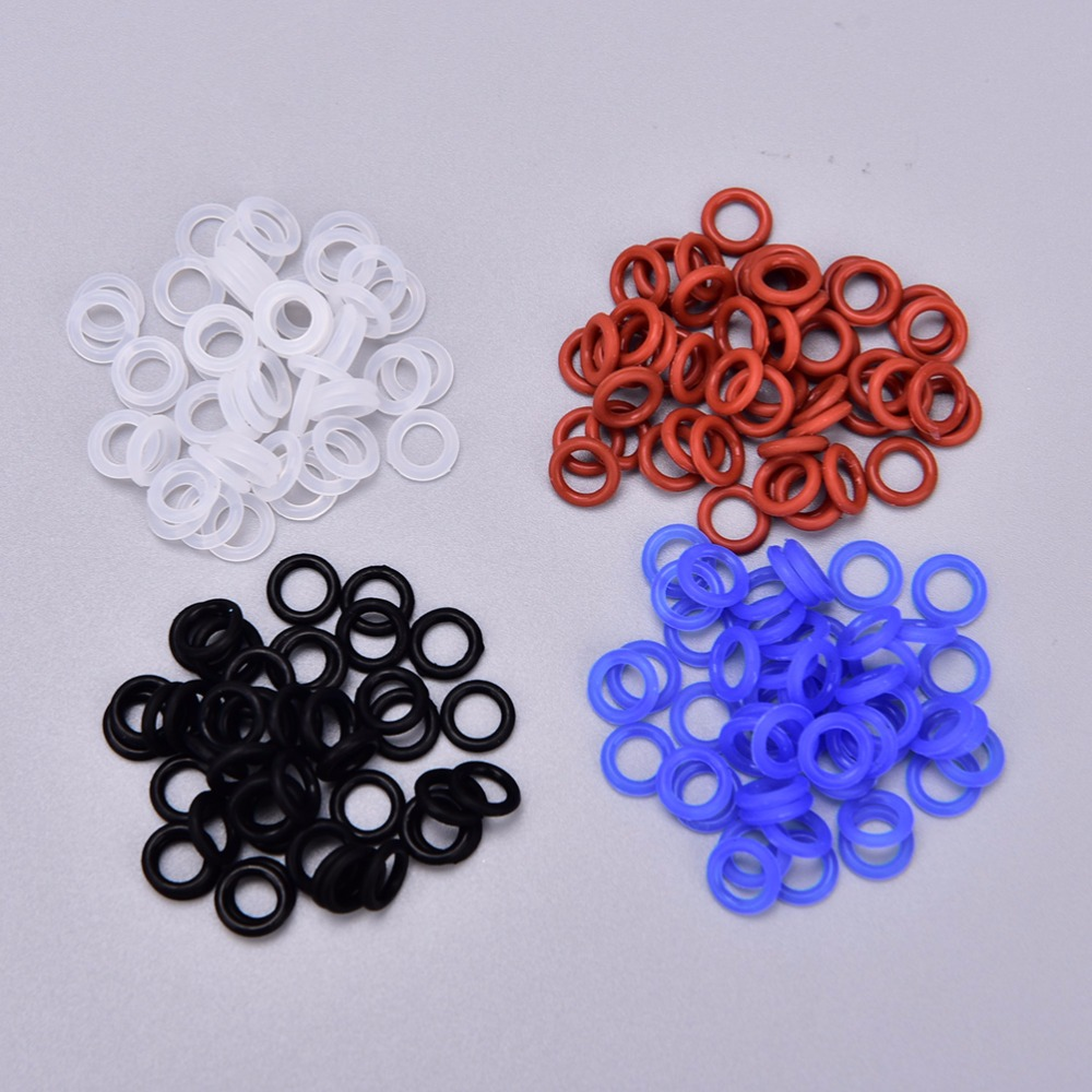 New Fashion The New 109pcs Green Keycaps Rubber O-ring Switch Dampeners Dark Red For Cherry Mx Keyboard Dampers Key Cap O Ring Replace Part Keyboards Computer & Office