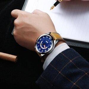 Image 3 - CURRENนาฬิกาข้อมือนาฬิกาผู้ชายแฟชั่นนาฬิกาหนังผู้ชายนาฬิกาปฏิทินวันที่นาฬิกาควอตซ์ชายนาฬิกาCasual