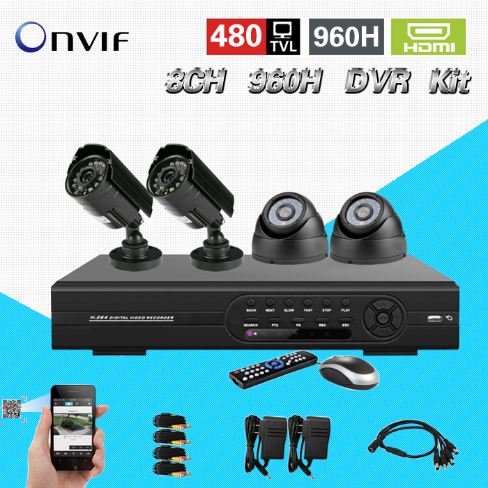 home video surveillance camera video system cctv 8ch 960h DVR NVR system 1080p hdmi dvr kit for ip camera CK-113