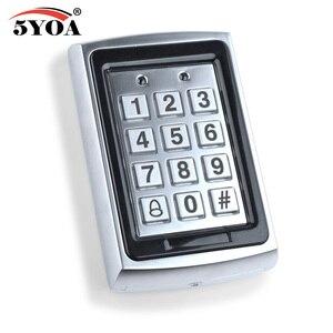 Image 2 - Wodoodporna metalowa klawiatura kontroli dostępu Rfid z 1000 użytkownikami czytnik kart 125KHz klawiatura breloczki System kontroli dostępu do drzwi