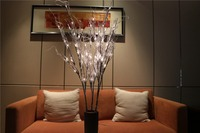 Free Shipping Shinng Silver Glitter Silver Root Branch Light, Holiday Light Party Wedding Christmas Living Room Decoration Twig