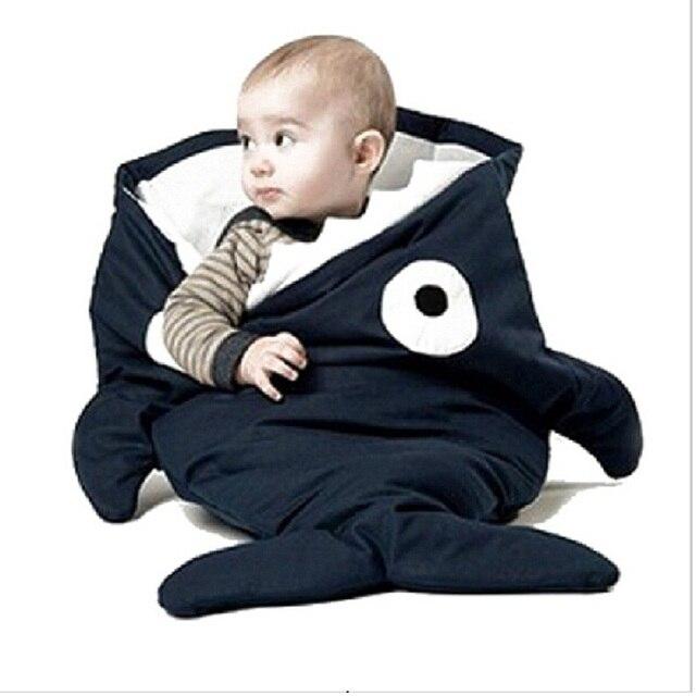 100% Cotton Envelope Babybite Cartoon Sharks Sleeping Bag Winter Strollers Fleabag Blanket Swaddle Baby Blankets Cute Bedding