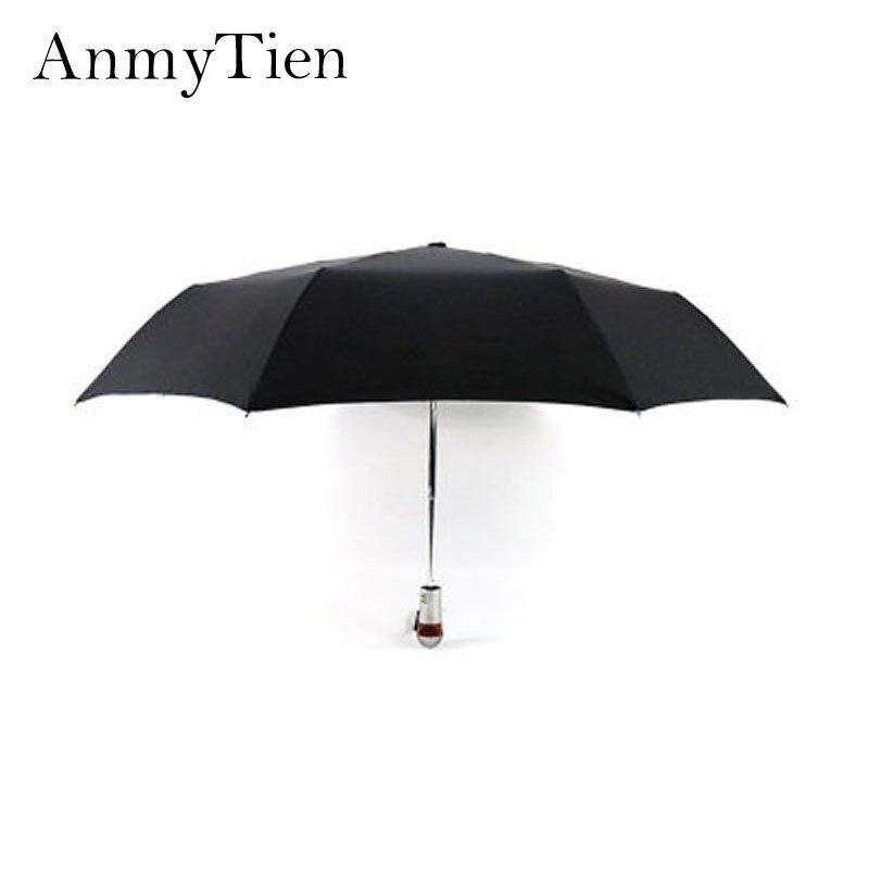 New Full Automatic Reinforced Umbrella Three Folding Male Female Parasol Umbrellas Rain Women Windproof Business Umbrella