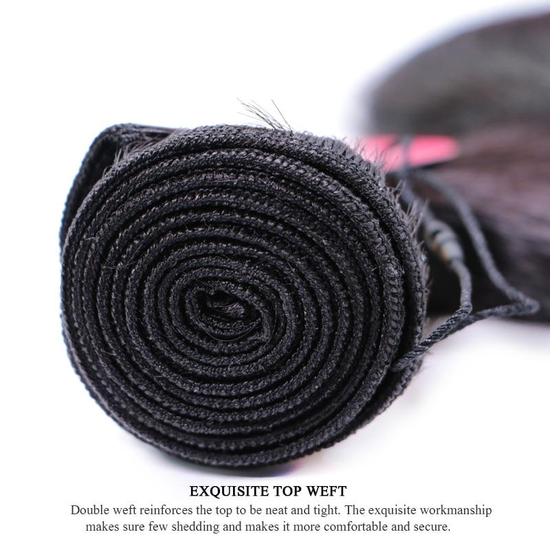Peruvian Body Wave Bundles Deal 3st / lot 100% Remy Human Hair Weave - Mänskligt hår (svart) - Foto 6