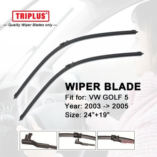 Wiper Blade for VW GOLF 5 (2003-2005) 1 set 24+19
