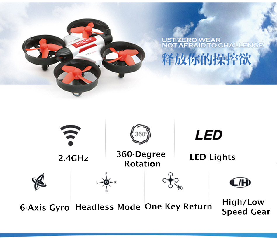 Pocket Quadcopter Mini RC Drone XX1 UFO Helicopter vs JJRC H36 2 4G Remote  Control Kid Toys Headless Mode