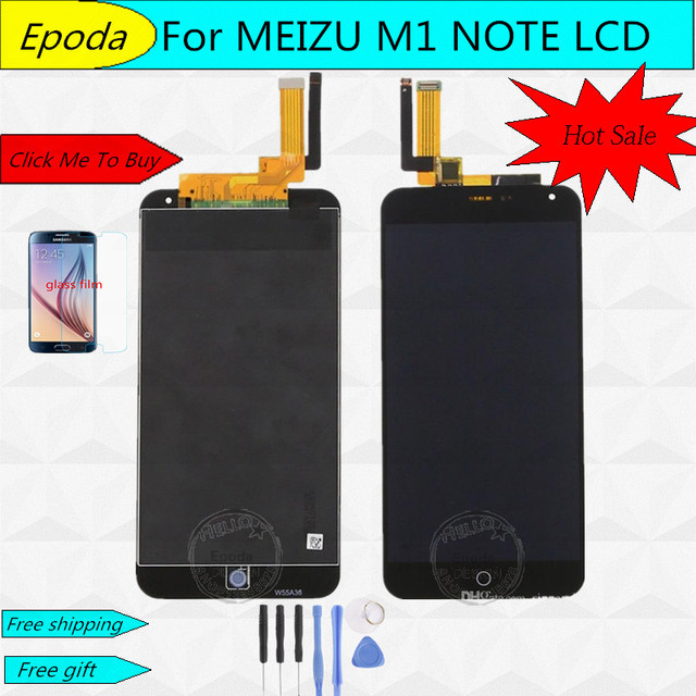 Качество AAA для 5.5 ''Meizu M1 Note meilan Примечание M463U ЖК-дисплей Экран Дисплей + сенсорный дигитайзер с Рамки Черного цвета; Бесплатная доставка