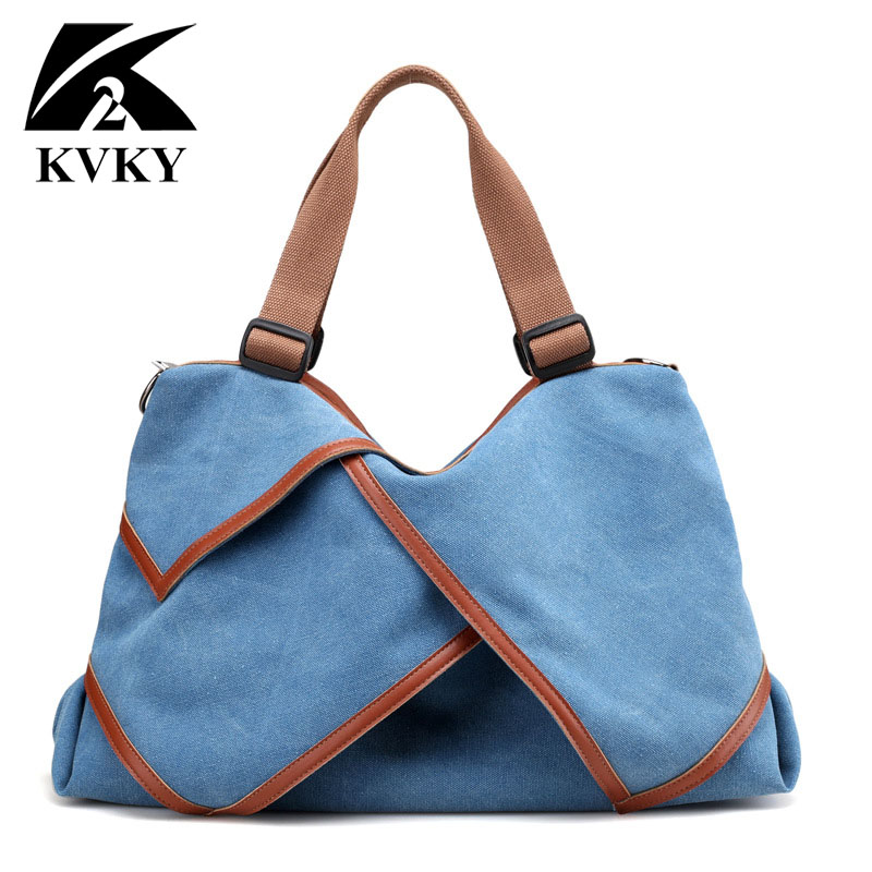 2017 Fashion Big Women Canvas Bag Ladies Shoulder Bags Handbags Women Famous Brands Large Captain Casual Tote Bags Sac A Main mojoyce women travel shopping bags summer beach big shoulder bags ladies large capacity canvas striped messenger tote bag