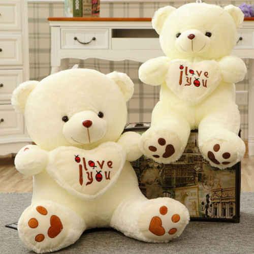Милые девушки прекрасный плюшевый 50 см плюшевый медведь многоцветные вращение светящиеся игрушки подарки