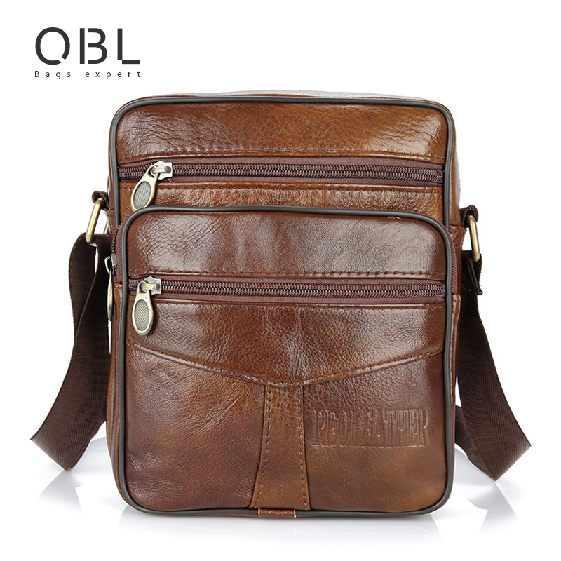 Cow Genuine Leather Messenger Bags Men Casual Travel Business Crossbody Shoulder Bag For Man Sacoche Homme