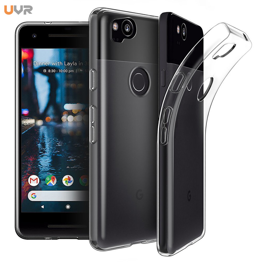 premium selection a5b04 56c3c UVR For Google Pixel 2 XL Case Shockproof Slim Silicone TPU Skin For Google  Pixel 2 XL Protective Ultra Clear Back Cover