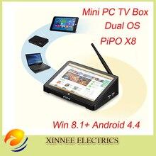 PIPO X8 Mini tv box Intel Windows10 and android 5 Quad Core Dual Boot OS Intel  Z8350 Quad Core Mini PC 7″Tablet Mini PC TV Box
