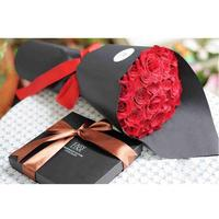 Black Wrapping Paper Multicolor Bouquet Gift Wrapping Paper Flowers Leather Wrapping Paper 20 Sheets Bag Fashion
