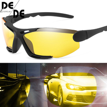 Unisex Night Vision 100% UV400 Polarised Driving Sun Glasses For Men Polarized Stylish Sunglasses Male Goggle Eyewears knockout polarised sunglasses
