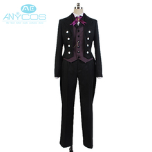 Black Butler Kuroshitsuji Sebastian Michaelis Uniform Outfit Coat Shirt Pant Anime Halloween Cosplay Costume For Men Custom Made