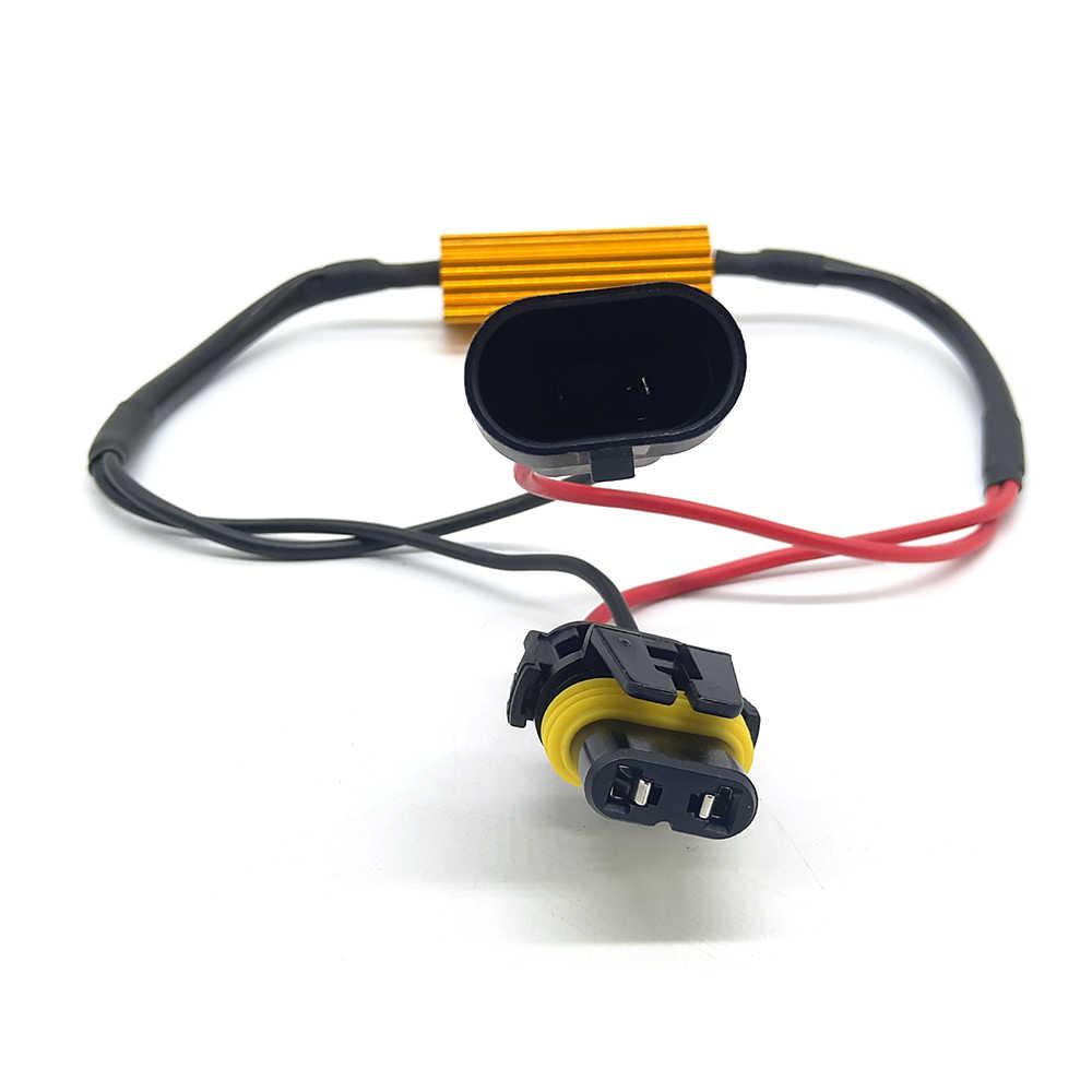 2pcs 50W 9005 HB3 9006 HB4 Car Load Resistor Error Canceller LED Decoder Canbus Free Wiring Canceller Decoder Light