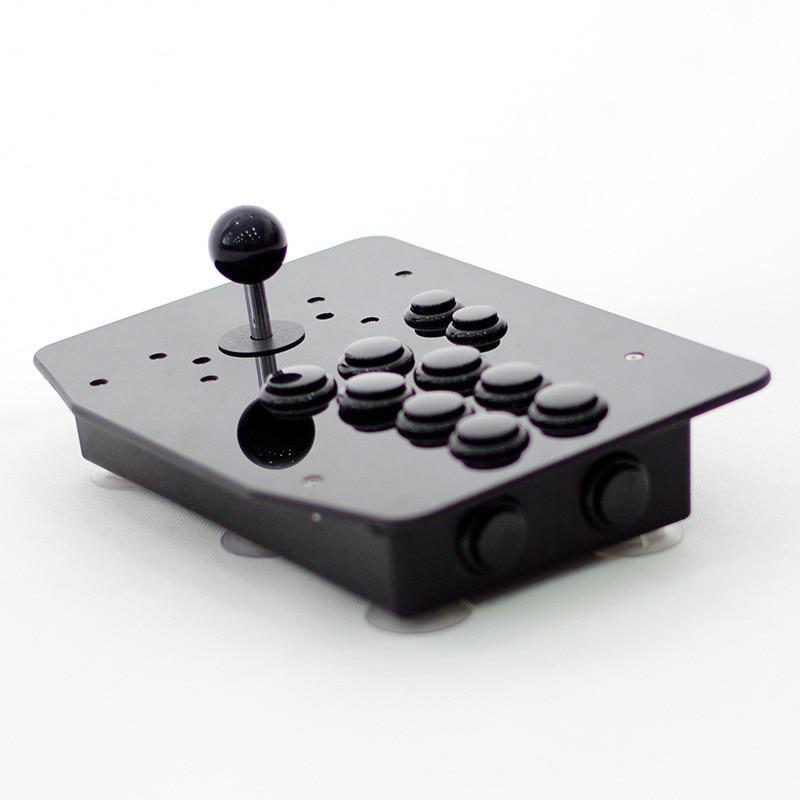 Купить с кэшбэком Cdragon black Panel Buttons USB Arcade Joystick Controller 8 Directional Buttons Rocker Wired For PC Raspberry Pi  free shipping