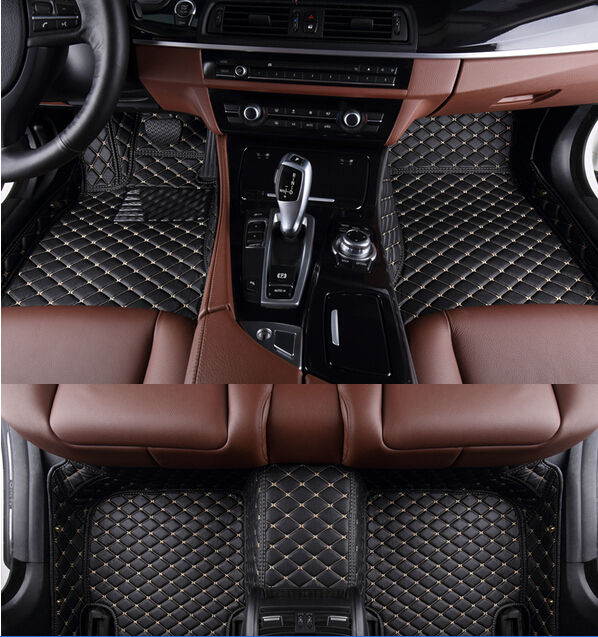 Высокое качество! Специальные автомобильные коврики для нового BMW G30 520d 530d 550d 2018 легко чистится водонепроницаемые ковры, Бесплатная доставк...