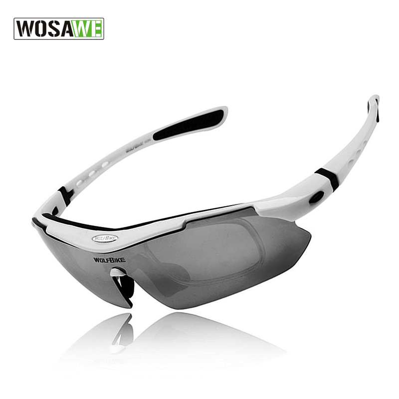 WOSAWE Polarized Cycling Glasses Outdoor Sports Bicycle Glasses Bike Sunglasses TR90 Goggles Cycling Eyewear 5 Lens White solid color pocket sexy spaghetti strap maxi dress for women page 4 page 5 href